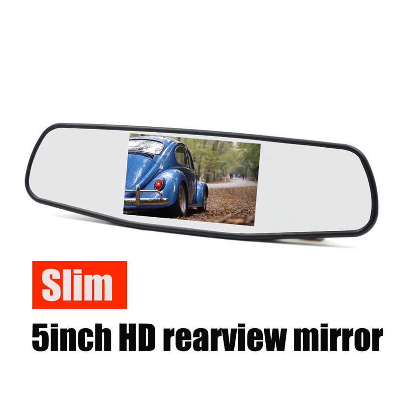 5 Inch Car Mirror Monitor - 4:3 Ratio, 800x480 Resolution, 2 Video Input