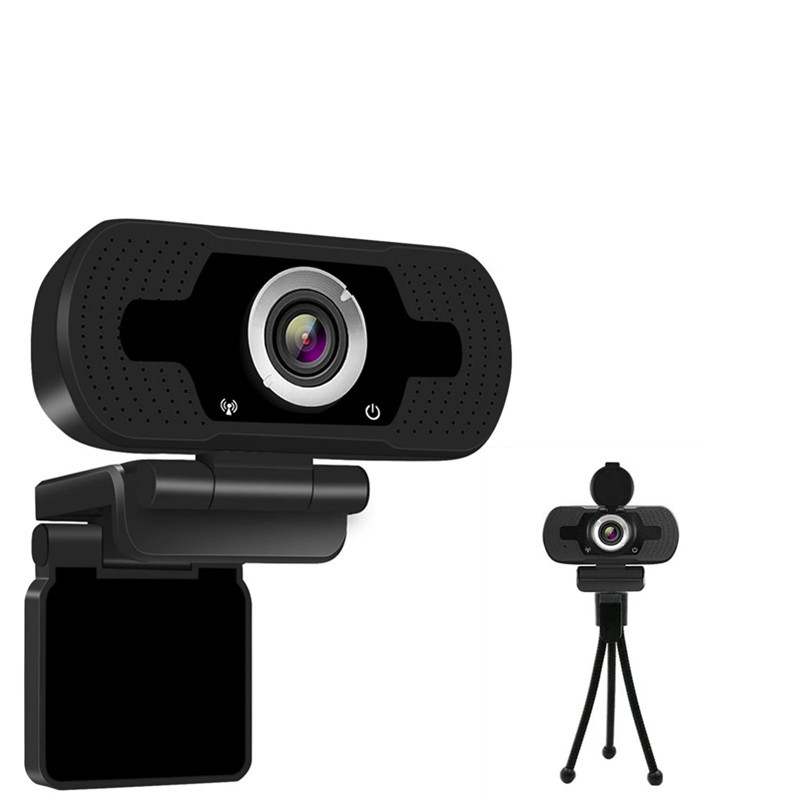 HD Camera With Microphone Computer Online Learning Video 1080p Equipment USB Free Drive Camera black
