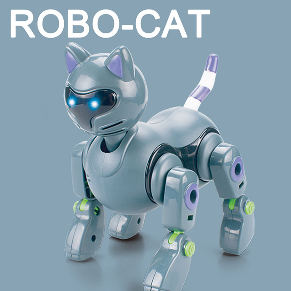 RC Electric Dinosaur Remote Control Electronic Robot With Light Sound for Kids Children Gift Toys Cat