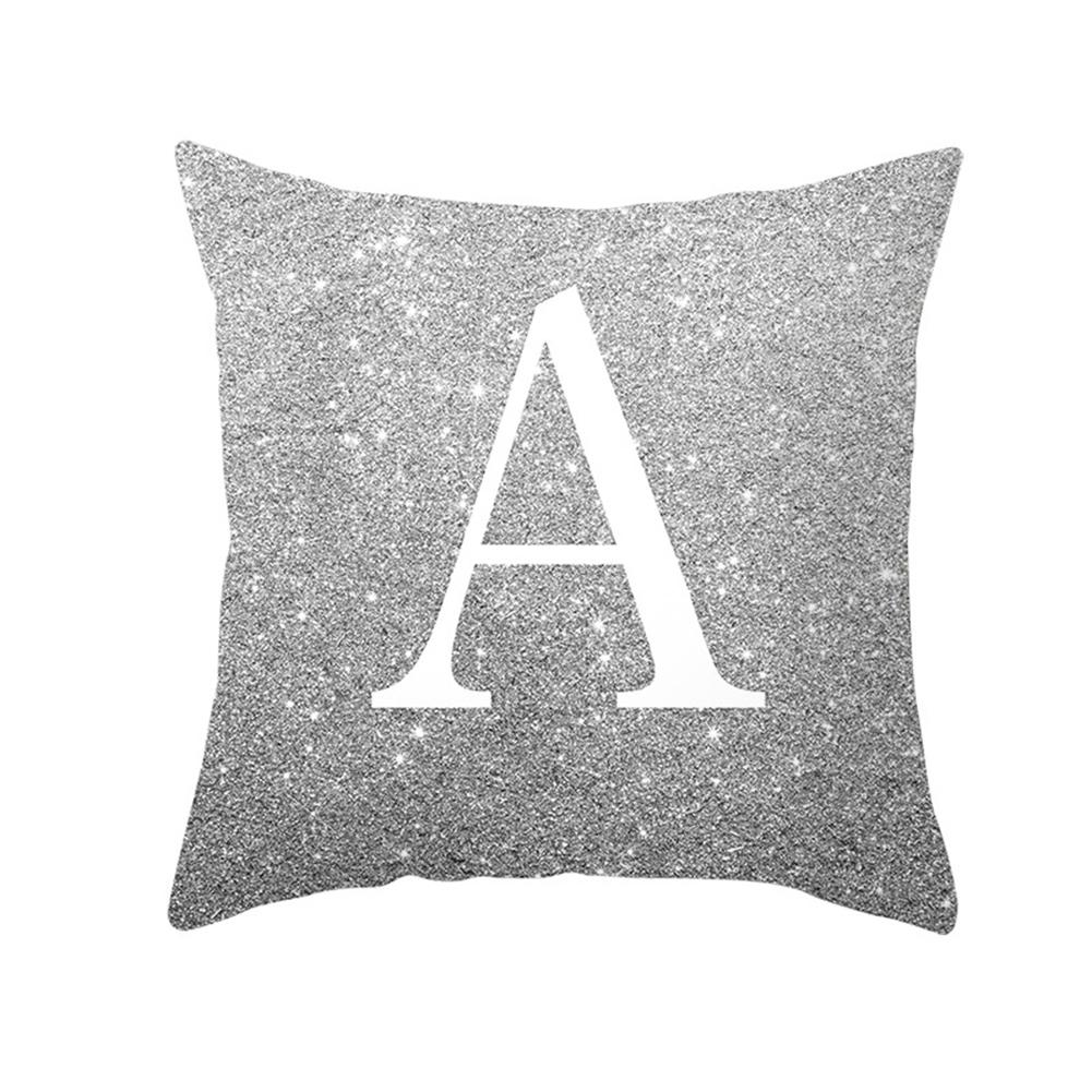 English Alphabet Throw  Pillow  Covers Sofa Car Cushion Cover Home Decorative Pillowcase 45*45cm a
