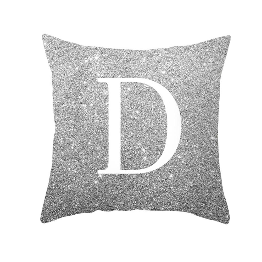 English Alphabet Throw  Pillow  Covers Sofa Car Cushion Cover Home Decorative Pillowcase 45*45cm d