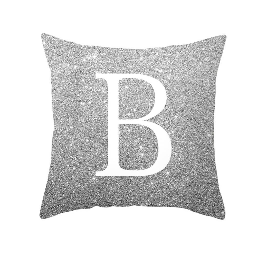 English Alphabet Throw  Pillow  Covers Sofa Car Cushion Cover Home Decorative Pillowcase 45*45cm b