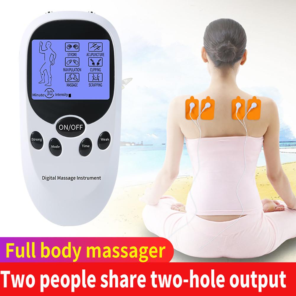 Double Output DC Cervical Vertebra Massager Instrument Electric Neck Shoulder Massager Mini Multifunctional Massage Instrument opp bag