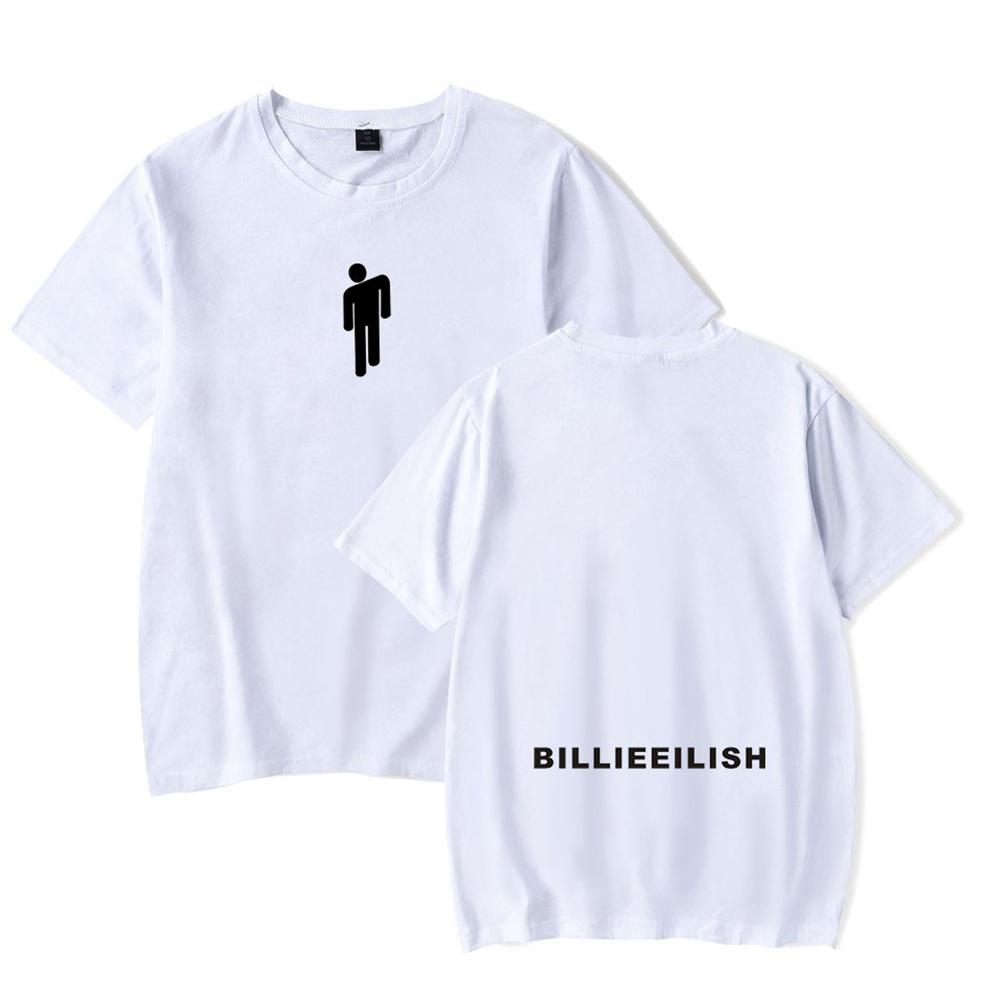 Fashion Young All-matching Soft Cotton T-shirts White C_S
