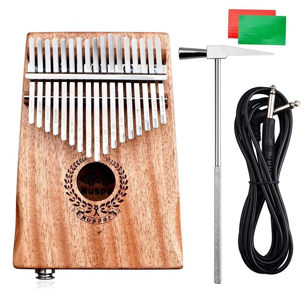 Muspor 17 Keys EQ Kalimba Mbira Mahogany Thumb Piano Finger Percussion EQ mahogany