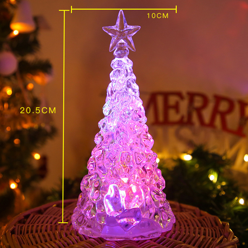 LED Night Light Artificial Crystal Christmas Tree Decoration for Bedroom large