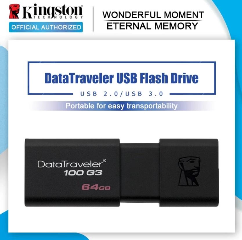 Kingston High-speed Usb Flash Drive 8GB 32GB 64GB Car Portable Usb Pen Disk Stick 64GB