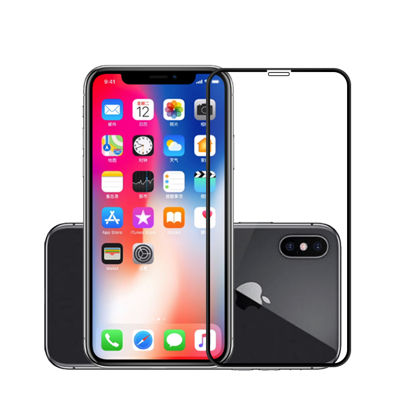 2 Pcs For iPhone X/XS, XR, XS MAX 2.5D Arc Edge Tempered Glass Screen Protective Film