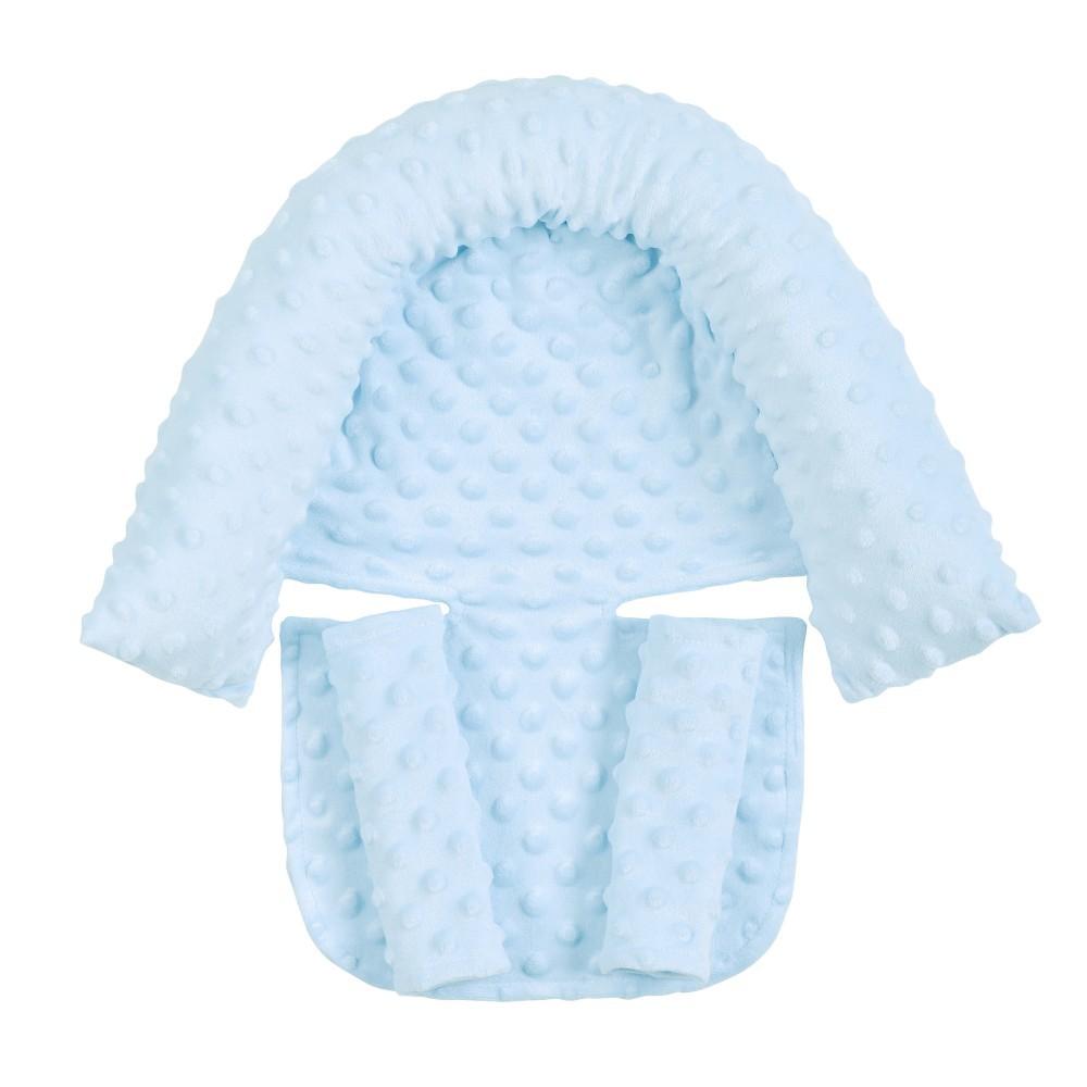 2Pcs/Set Baby Safety Seat Headrest + Safety Belt Cover Set for Infants Sky blue