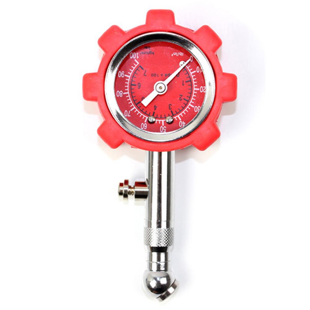 High Precision Car Tire Pressure Monitor Pneumatic Tire Pressure Gauge Universal Use Red