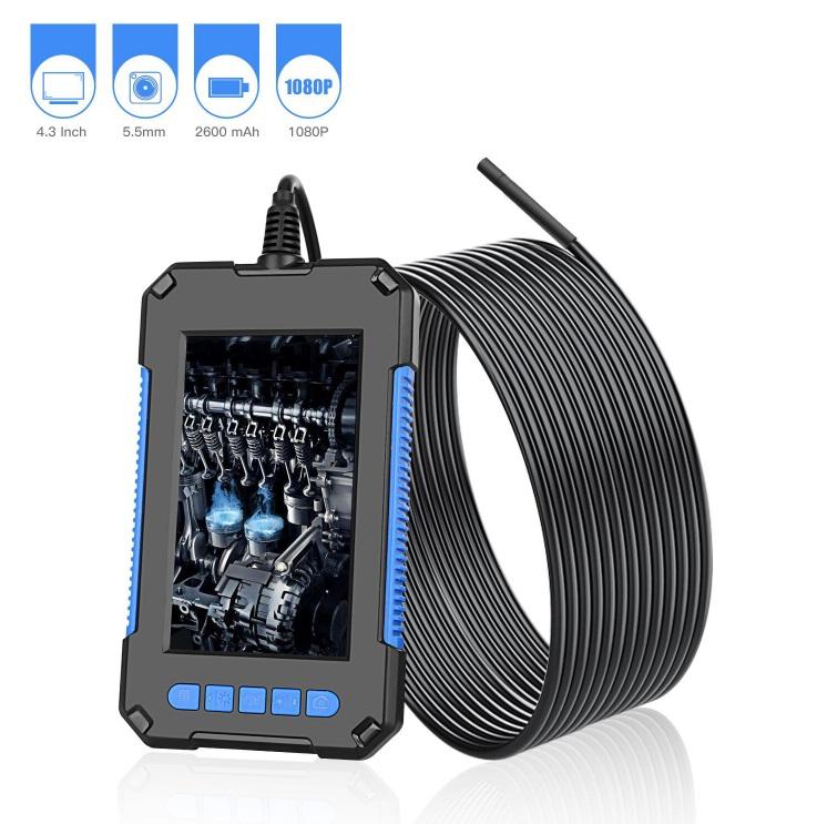 P40 Hd Endoscope Waterproof Industrial 200w Portable Handheld Endoscope with Screen 5.5mm 10 meters