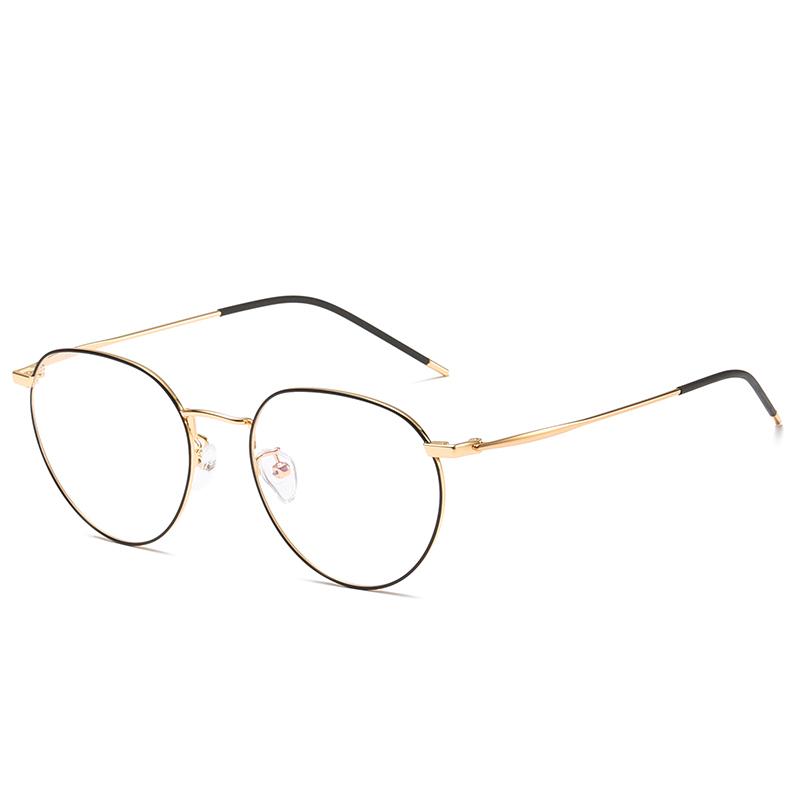 Anti Blue Rays Glasses Metal Glasses Frame Unisex Myopic Optical Eyeglasses Frames Anti Blue Rays Clear Lens