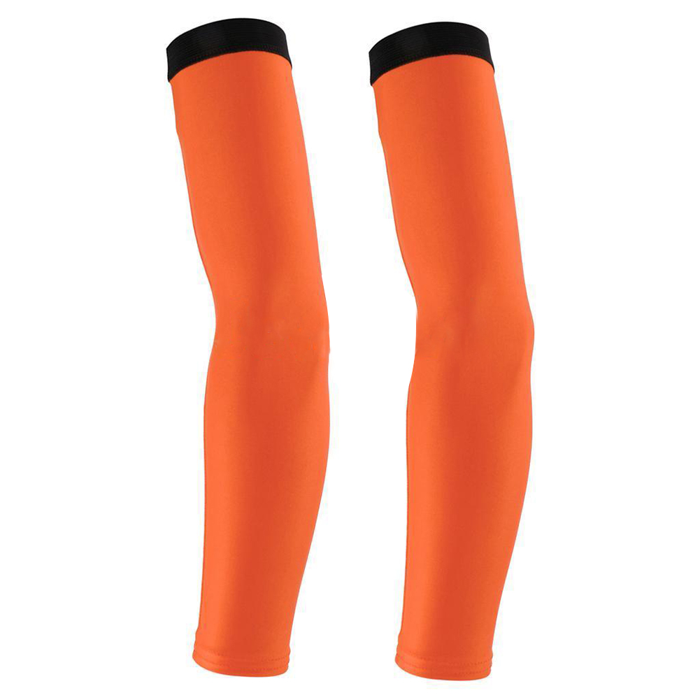 Breathable Summer Cycling Bike Bicycle Arm Warmers Cuff Sleeve Cover UV Sun Protection for Outdoor Activities Orange_M