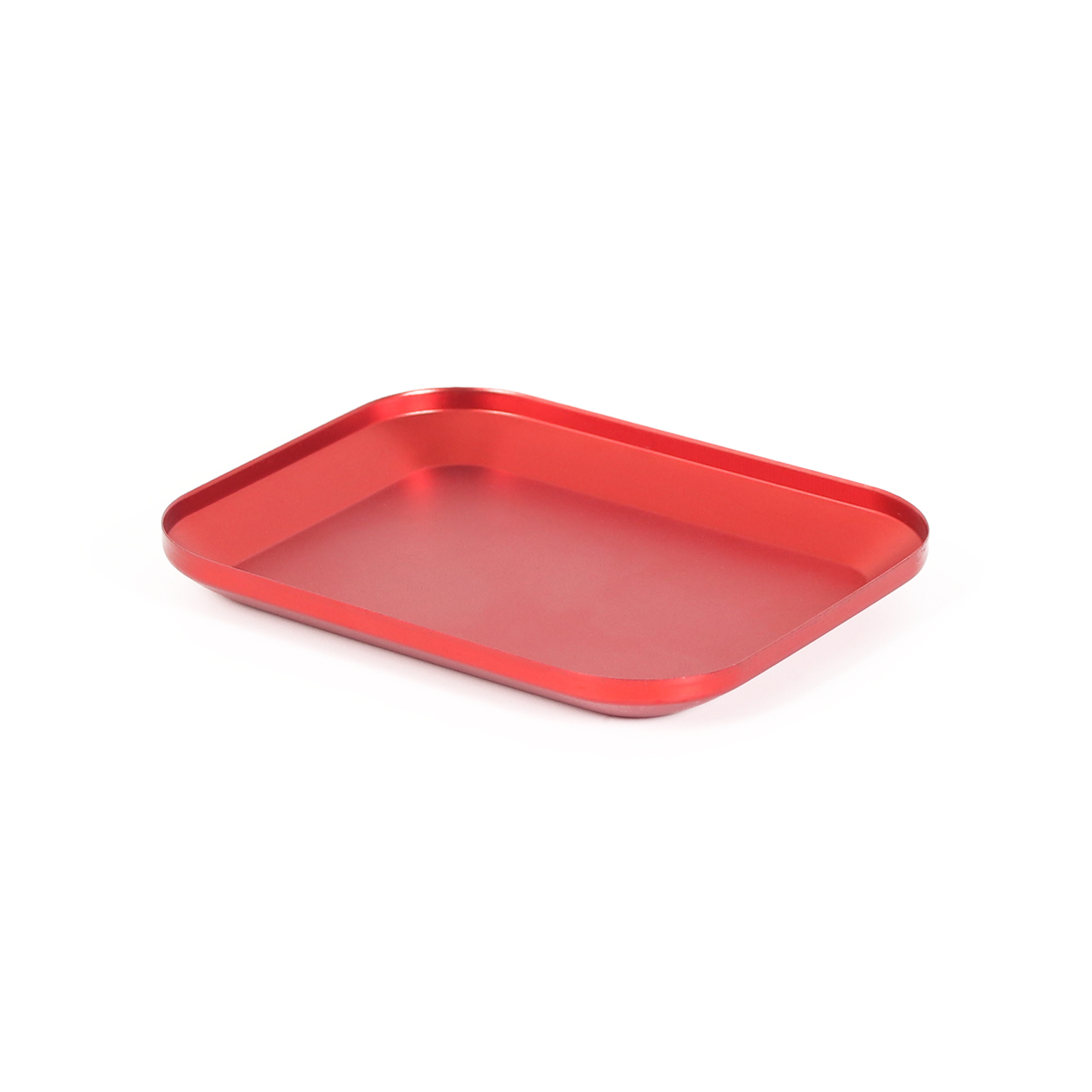 Metal Aluminium Alloy Screw Tray with Magnetic Pad Plate for RC Crawler Car Boat Drone Quadcopter RC Model Repair Tool Part red
