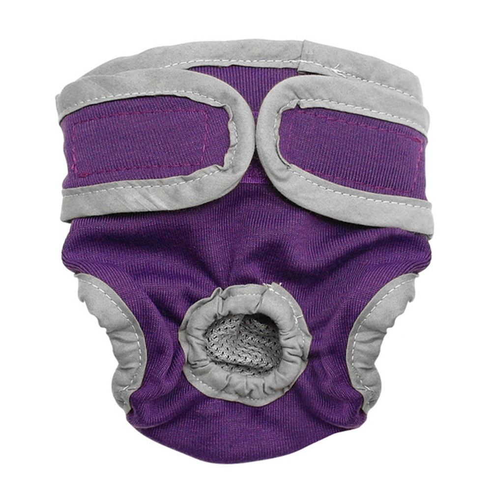 Female Breathable Physiological Pants for Small Meidium Pets Dogs purple_XL