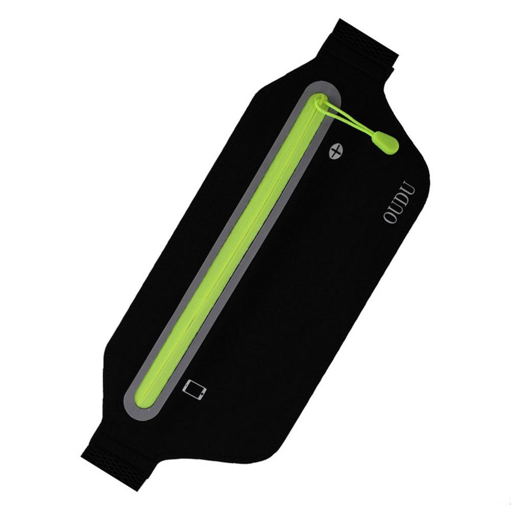 Unisex Running Sports Cell Phone Pocket Multifunction Waterproof Waistbag Lightweight Bag black_6.5 inch