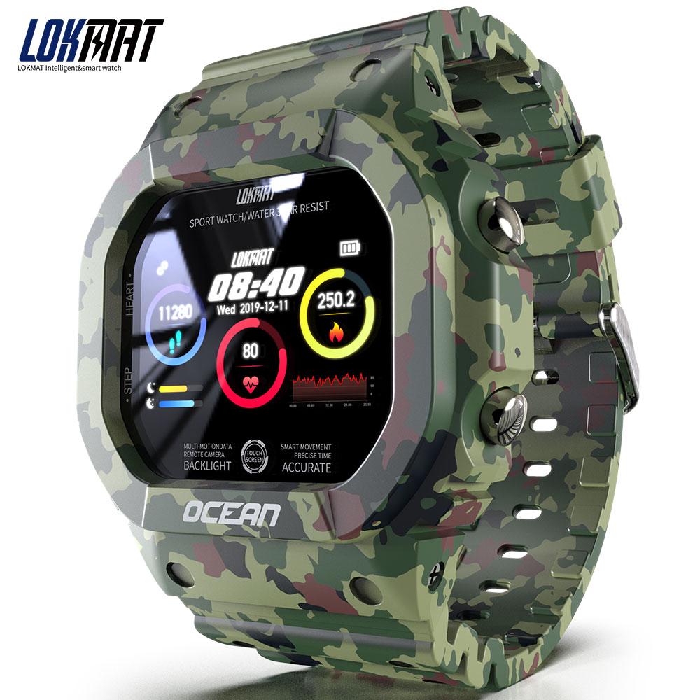 Ocean Smart Watch Men Women Fitness Tracker Blood Pressure Message Push Heart Rate Monitor Clock Smartwatch Green