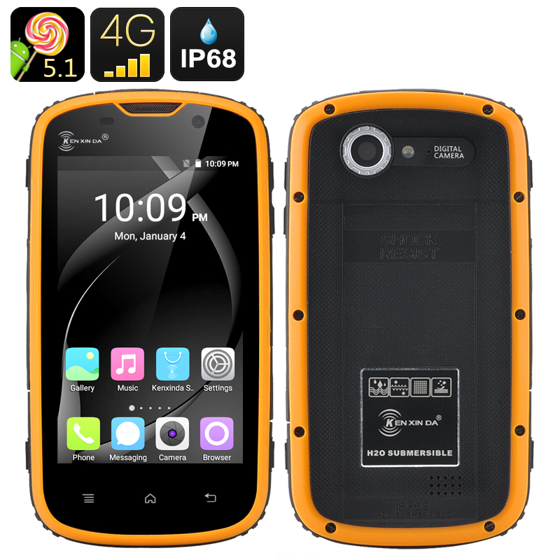 Ken Xin Da Rugged Smartphone (Yellow)