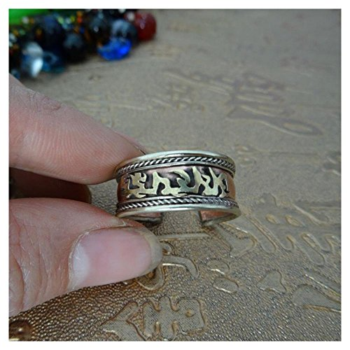 [EU Direct] Vintage Hand Crafted Copper 3 Colors Open Ring All Sizes Arthritis Toe Thumb Style:style 5 Metal:white ,yellow ,red coopper ring