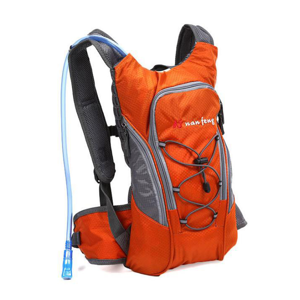 Riding Water Bag Backpack Bicycle 5L Sports Outdoor Riding Bag Cilmbing Travel Shoulders Bag Single backpack orange