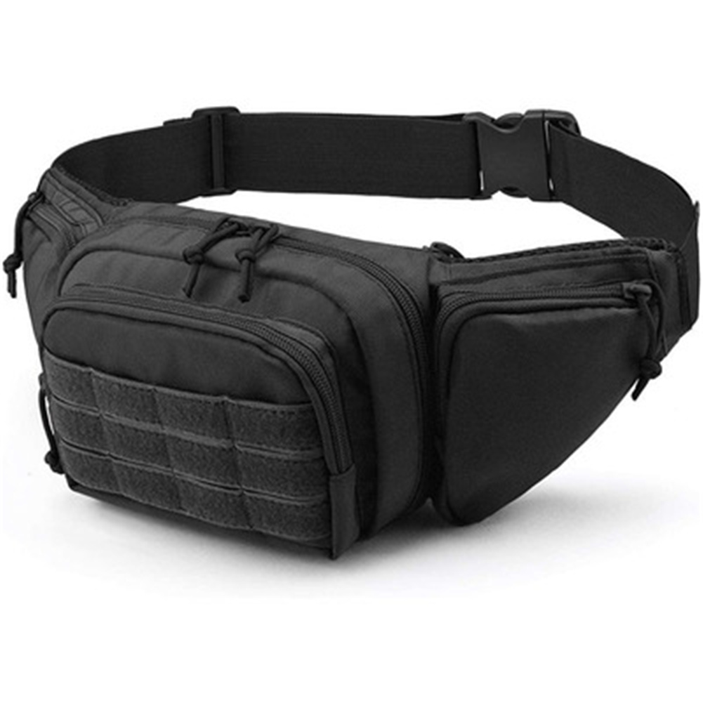 Waist  Bag Oxford Cloth Waist Pack Multi-pocket For Camping Hiking Pouch Belt Bags black_15 inches