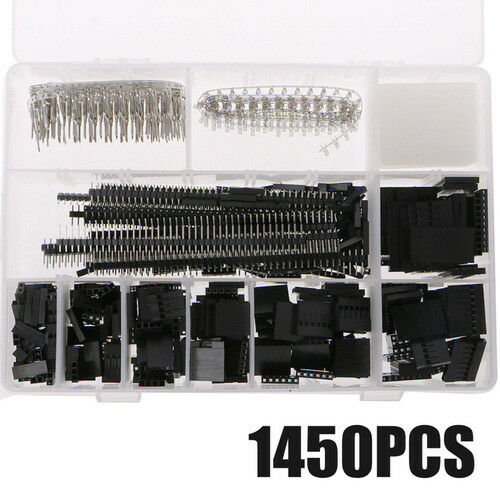 1450x 2.54mm Wire Jumper PCB Pin Header Connector Housing Kit Crimp CAO DuPont Shell Kit