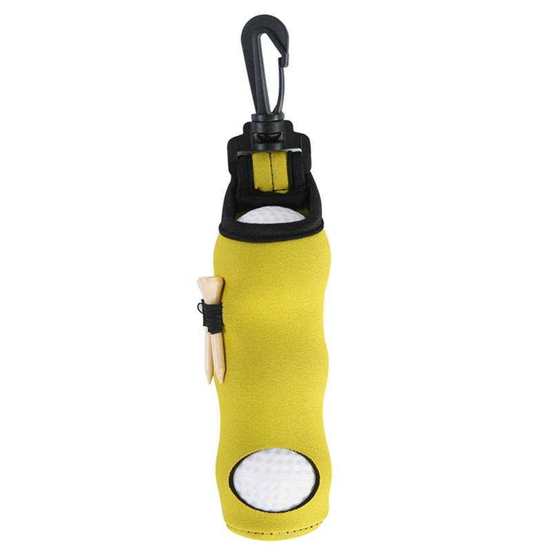 Portable Golf Small Waist Packing Bag 3 Balls + 3 Tee Small Accessory Bag  yellow