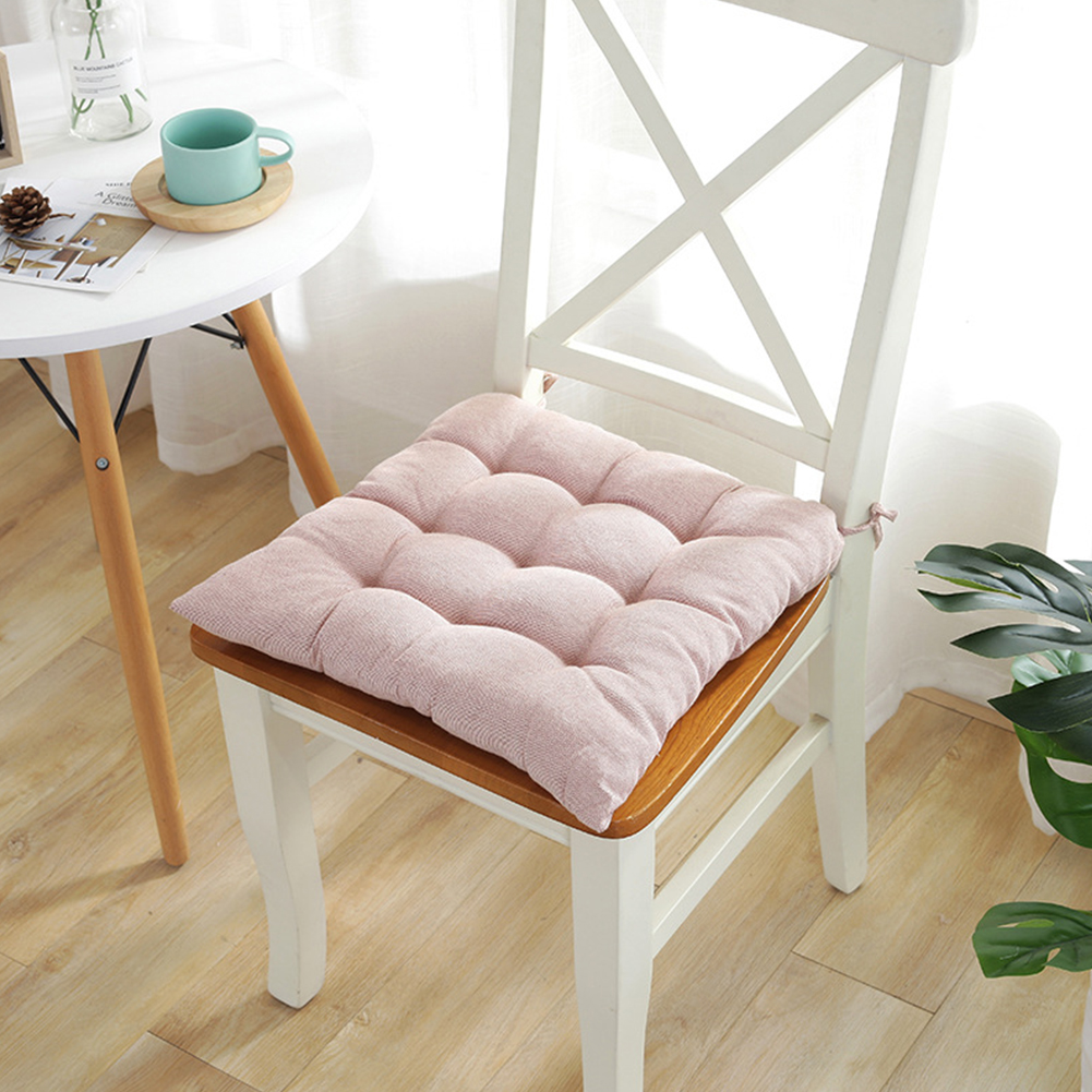 Soft Thicken Student Cushion with Tie Ropes for Kitchen Office Chair