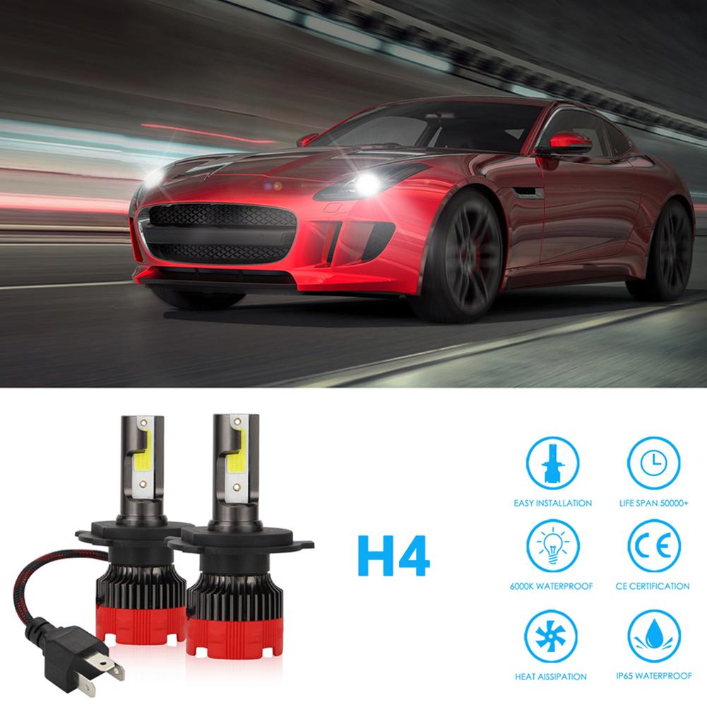2PCS 120W 12000LM Mini Assembly H1 H7 H4 H8/H9/H11 9005 9006 LED Car HeadLight Fog light H4