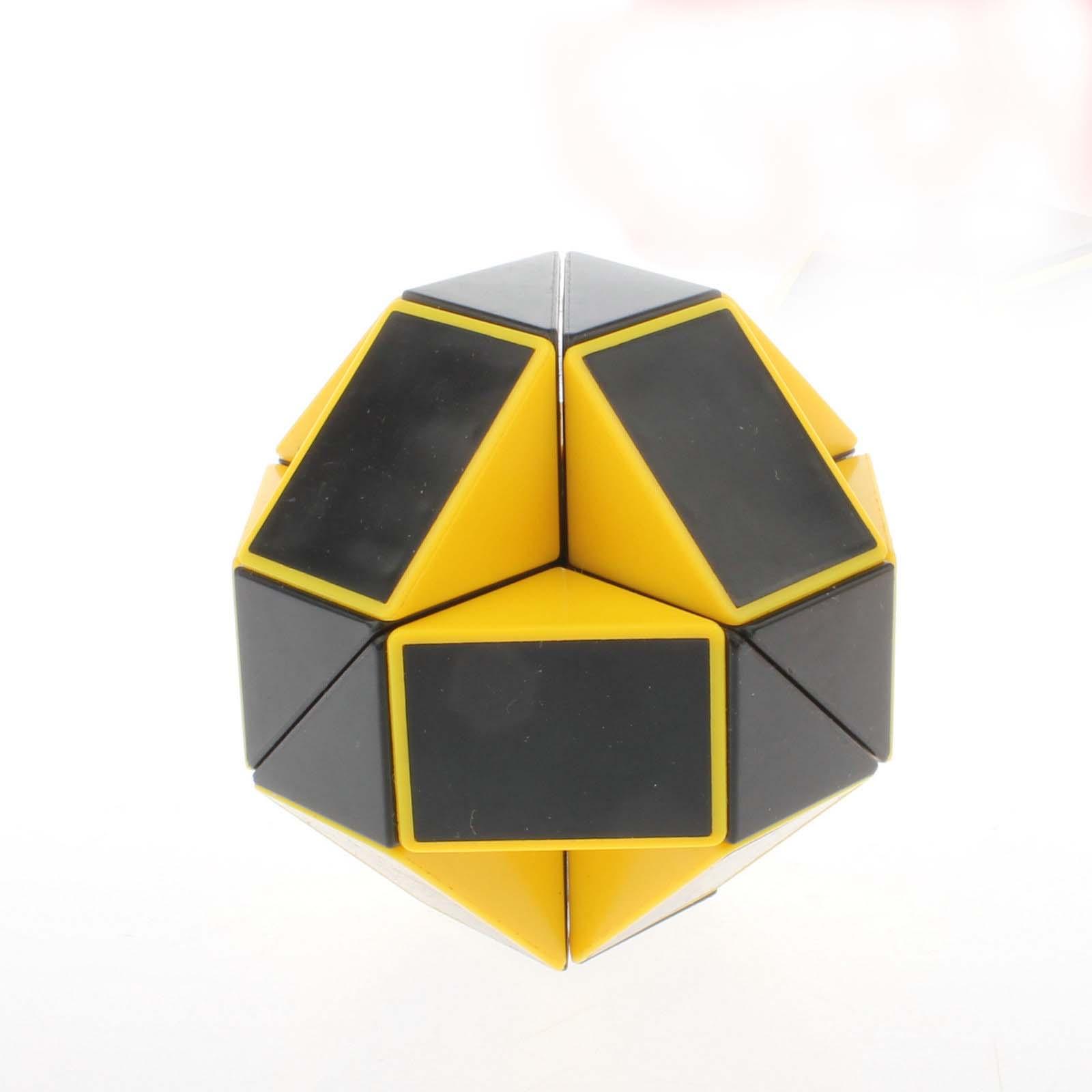 [US Direct] Oostifun Black & Yellow Magic Snake Magic Ruler Puzzle Twisty Toy