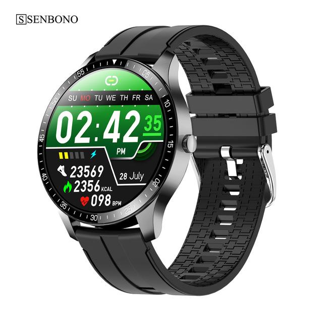 S80 Smart  Watch 1.28 Inch 240*240 Resolution Ratio 200mah Health Sports Watch Black rubber