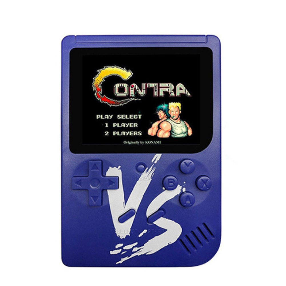 VS Vintage Classic Mini Palm Game Machine Built-in 500 Classic Games with Gamepad blue