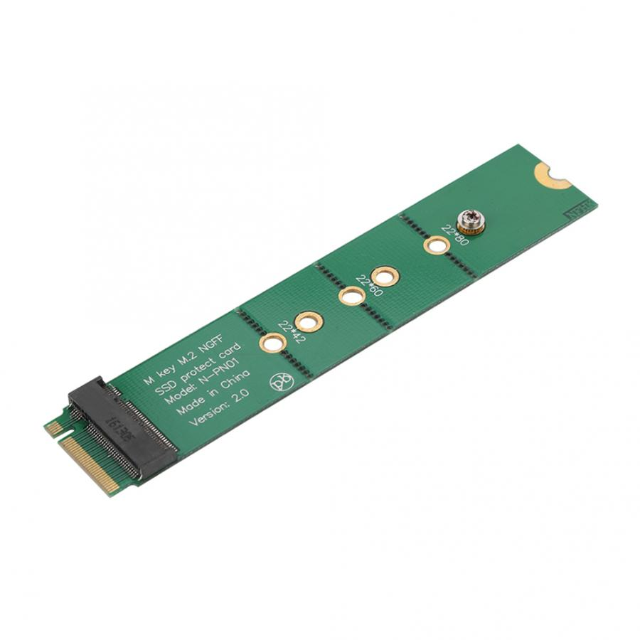 M.2 SSD Key B Slot to B+M Interface Adapter Test Protection Card B+M key M.2 Male to Female Slot Extension Board Adapter green