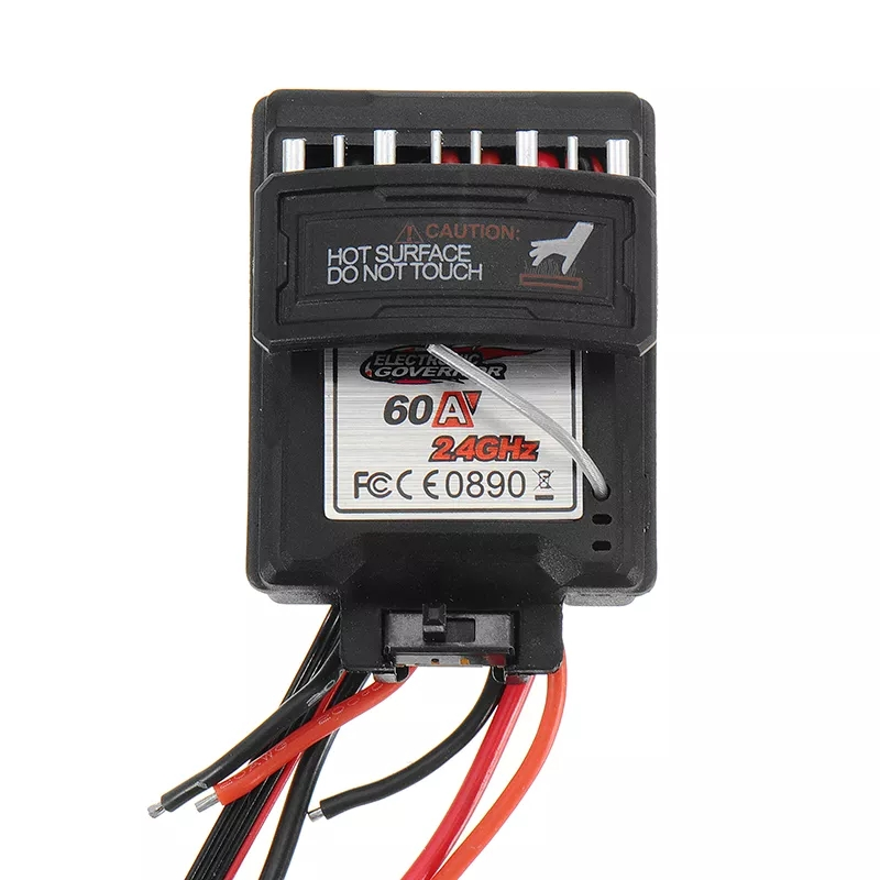60A 7.4V Brushed Speed Controller ESC for Xinlehong 9125 1/10 RC Car Parts No.25-ZJ07 as shown