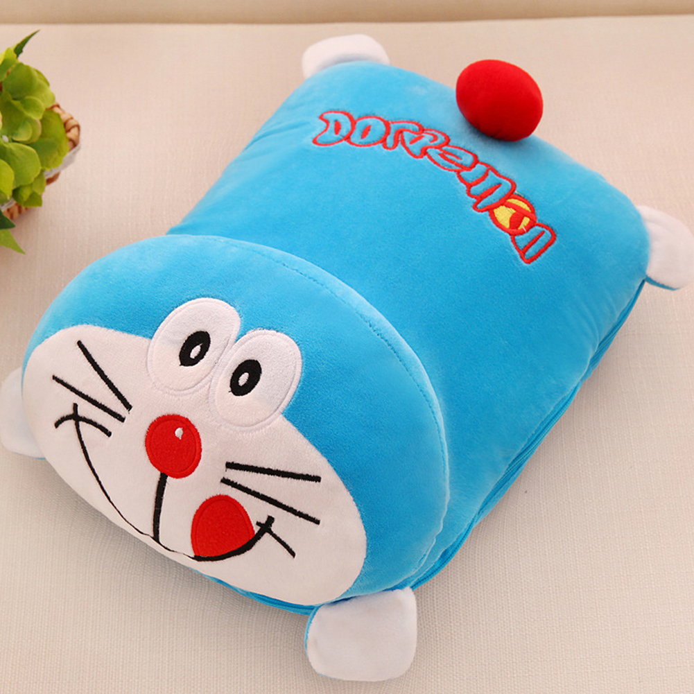 1.1x1.6m Cartoon Doll Mink Velvet Blanket for Air Conditioning Jingle cat air conditioner was_Water velvet blanket 1.1x1.6 meters inside and outside color matching