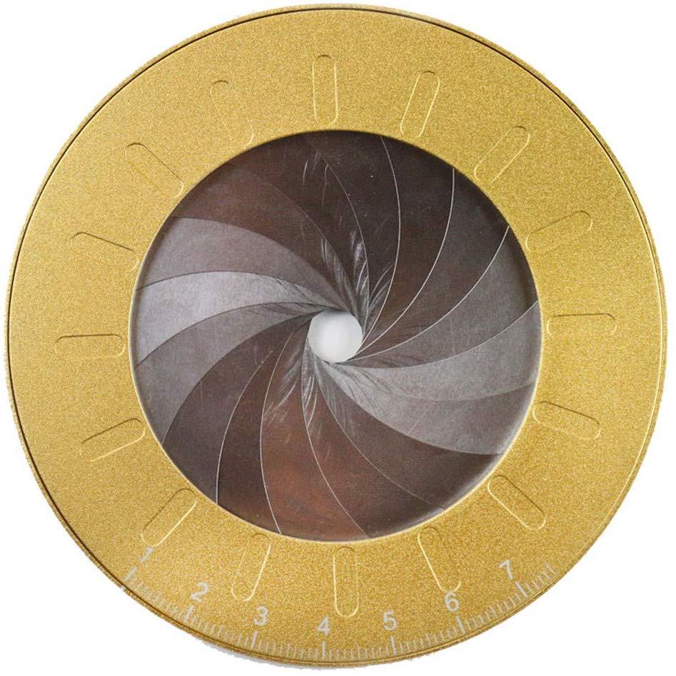 Aluminum Alloy Drawing Circles Geometric Tool Adjustable Diameter Circular Drawing Stencil Ring Ruler Gold