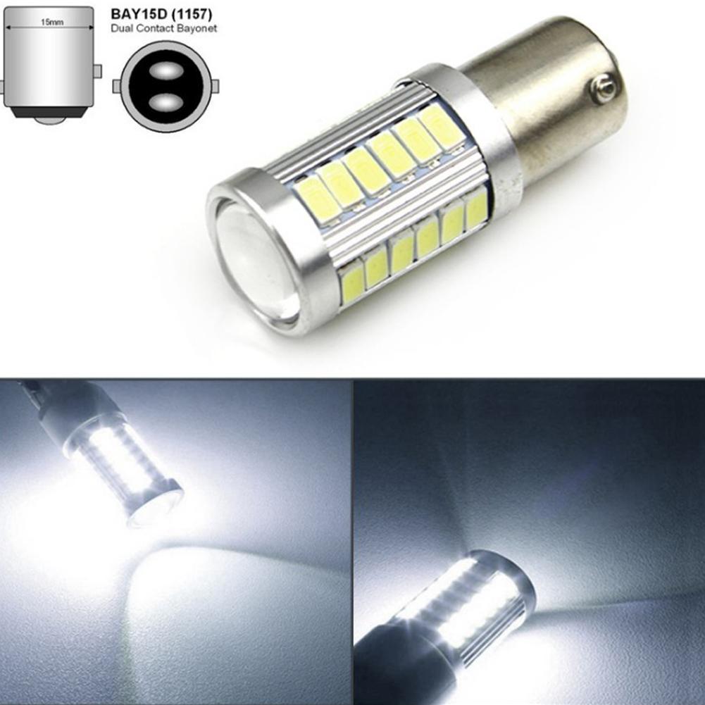 LED 1156 1157 5730 5630 33SMD Car Tail Bulb Brake Lights Auto Reverse Lamp Daytime Running Light 1157-white light