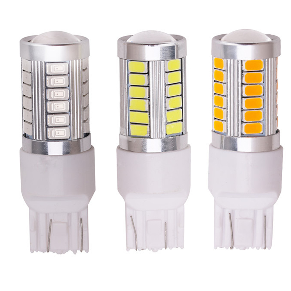 LED 1156 1157 5730 5630 33SMD Car Tail Bulb Brake Lights Auto Reverse Lamp Daytime Running Light 7443-red light