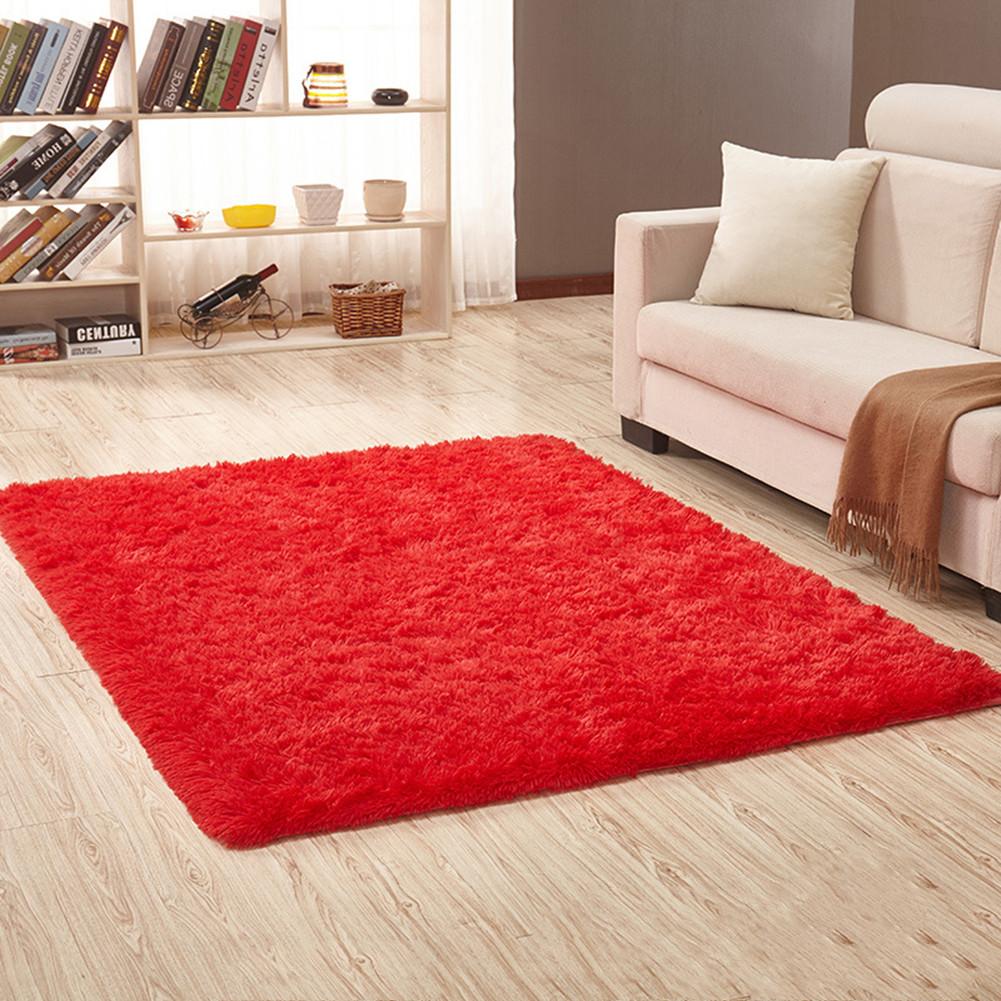Soft Foam Shaggy Rug Non Slip Bedroom Memory Mat Batn Bathroom Shower Carpet Colors:Gray 50*80cm/1.6*2.6ft red