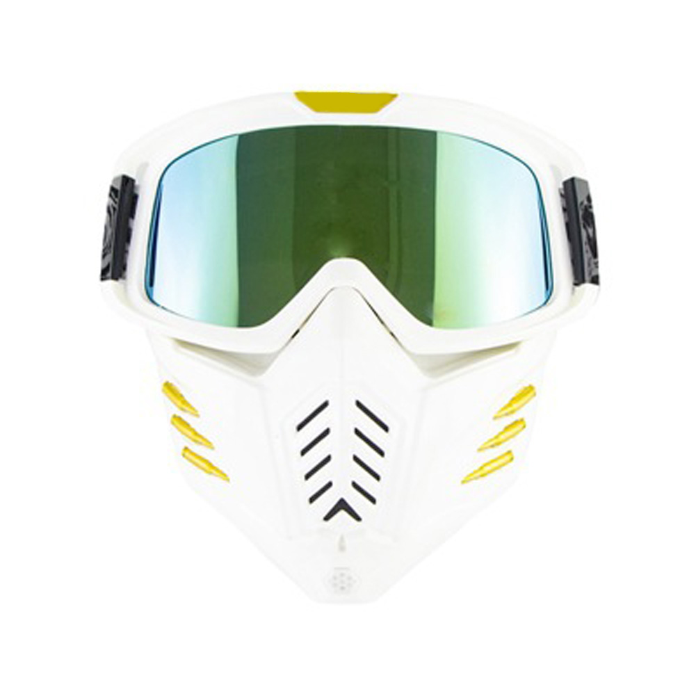 Motorcycle Mask Men Women Ski Snowboard Goggles Winter Off-road Riding Glasses Pearl Platinum
