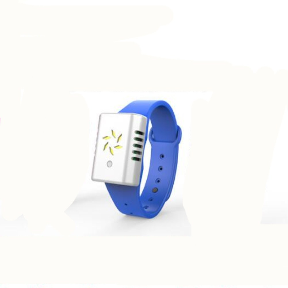 Ultrasonic Intelligent Outdoor Wild Mosquito Repellent Bracelet  Children Silicone Sports Bracelet blue