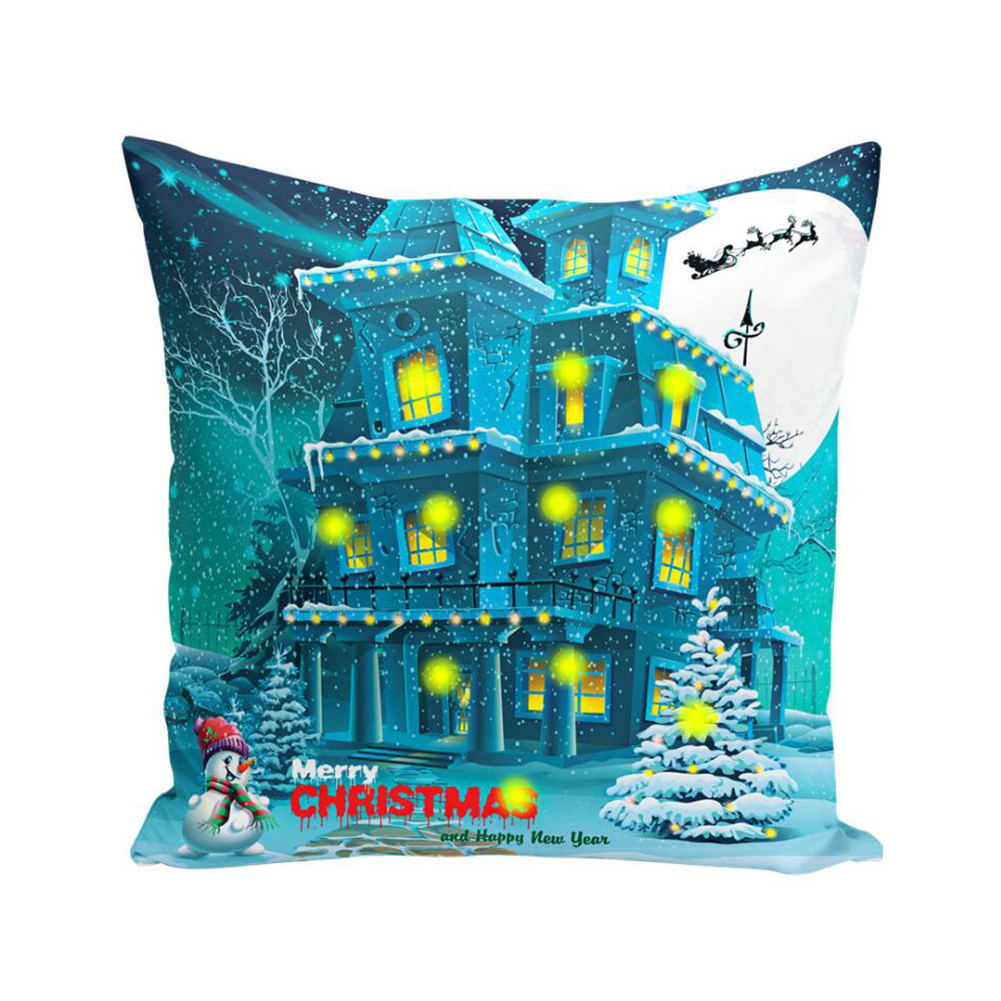 Cushion Cover Led Light Merry Christmas X-max Glow Throw Led Pillow Case Super Sofa Pillow case Cushion Pillowcase