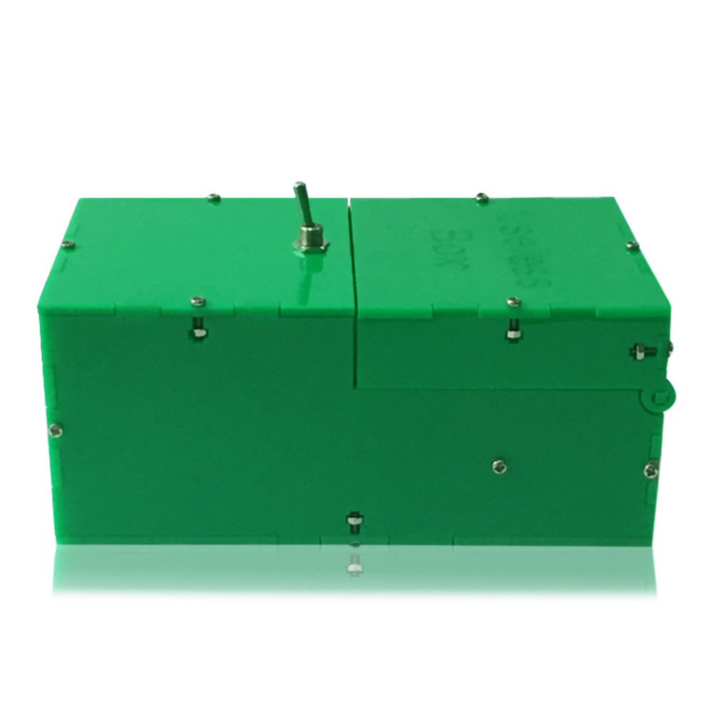 Wired Useless Box Battery Powered Toy for Kids Adults green