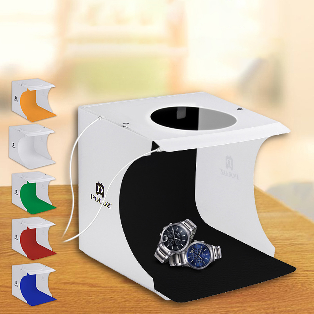 20cm x 20cm 2 LEDs Portable Folding Studio Light Box Photography Softbox  20cm x 20cm