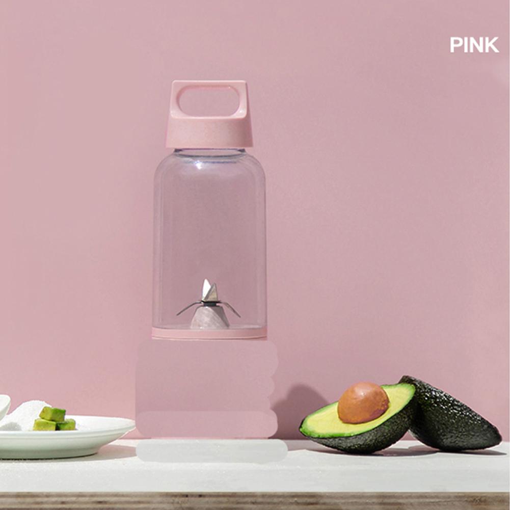 500 ML Vitamin Juicer Bottle Fruit Blender Cup Body for Juice Squeezing Pink
