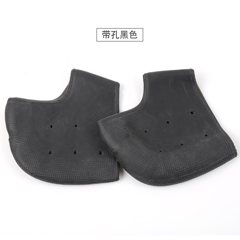 Moisturizing Silicone Heel Protective Socks with Breathable Holes Anti-shock Foot Protectors Cracked Foot Skin Care Soft  black_Free size