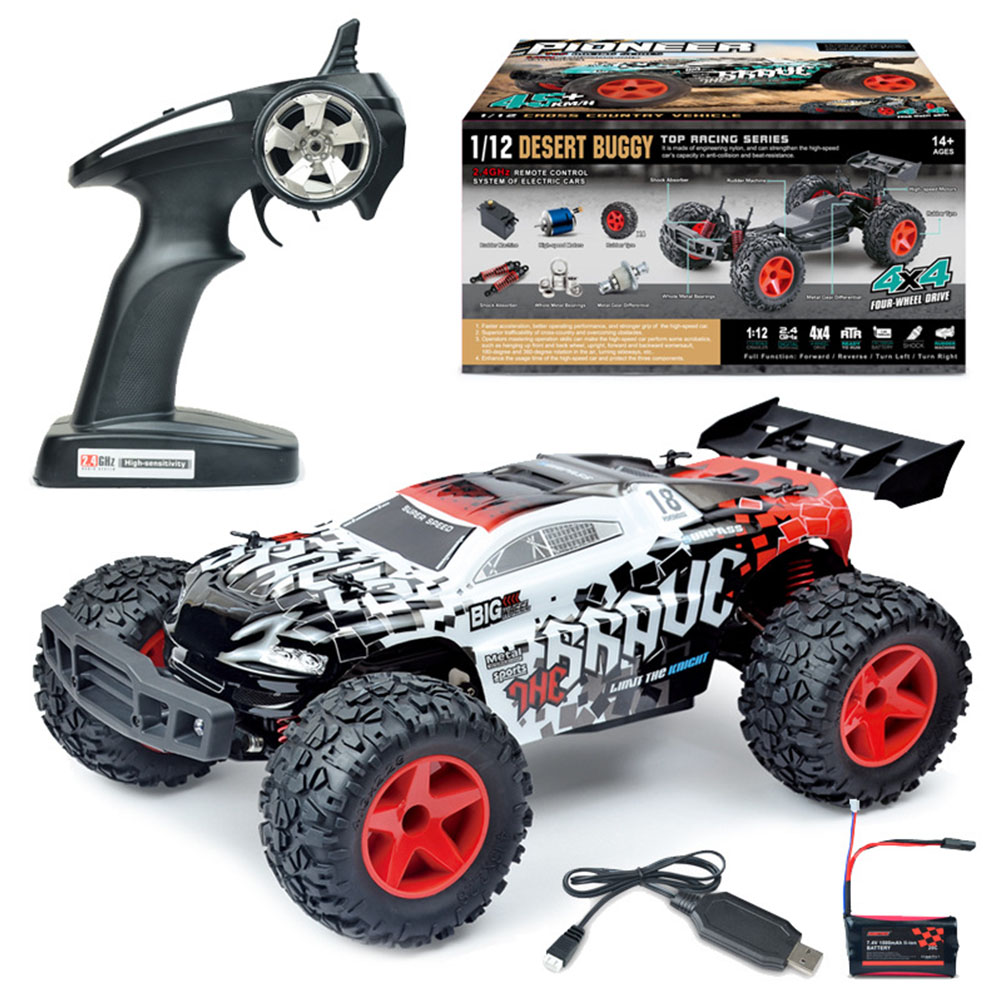 Remote Control Bg1508 Upgrade Four-Wheel Drive Charging Wireless Drift Racing 1:12 Modeling Car Toy white_1:12