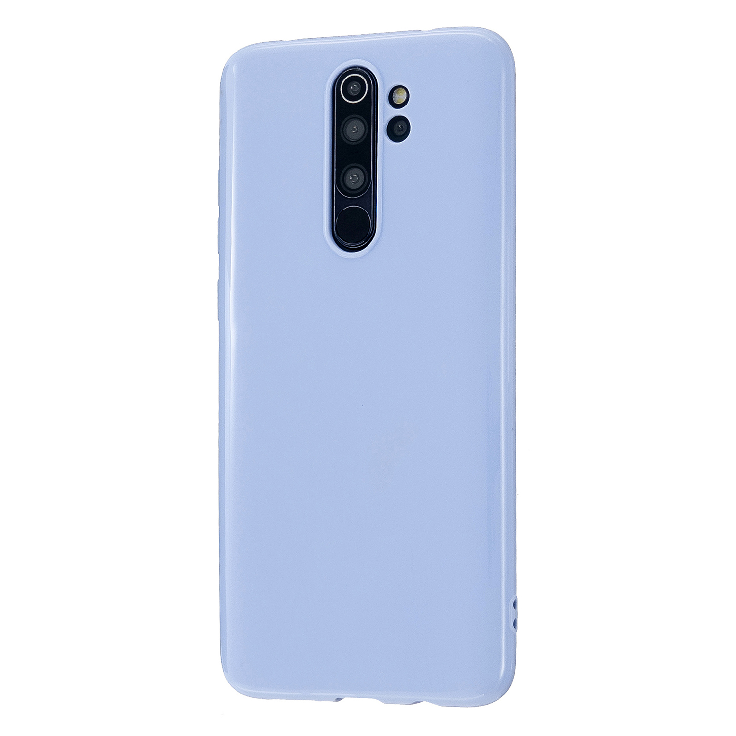 For Redmi Note 8/8 Pro Cellphone Cover Reinforced Soft TPU Phone Case Anti-scratch Full Body Protection Taro purple