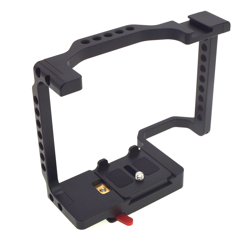 Camera Cage Full Frame with Shoe Mount & Rosette Mount for Sony a7II a7SII a7III a7RIII a9 black