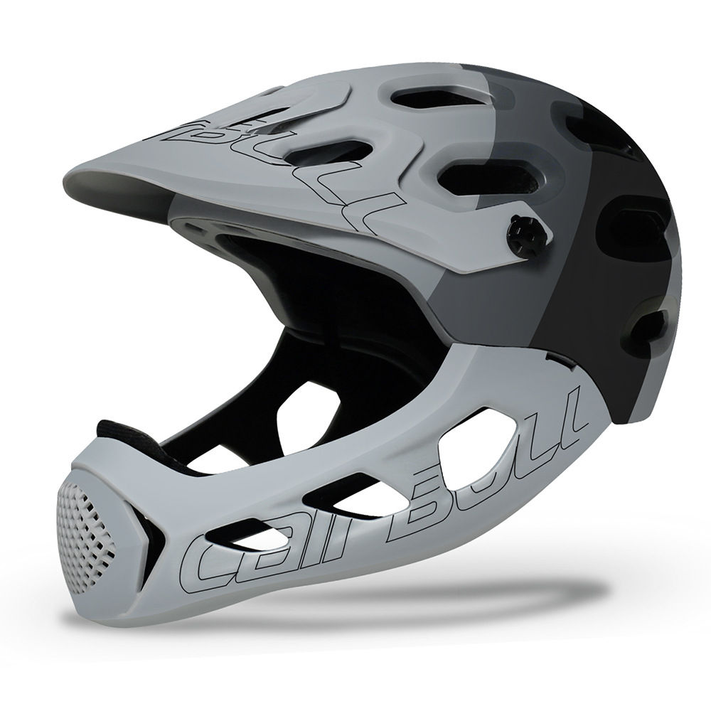 Cairbull ALLCROSS Mountain Cross-country Bicycle Full Face Helmet Extreme Sports Safety Helmet Black ash_M/L (56-62CM)